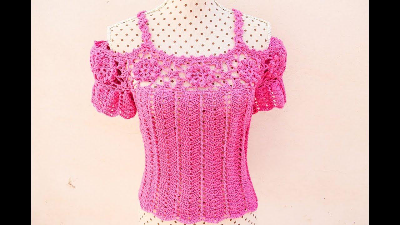 Blusas en crochet para dama