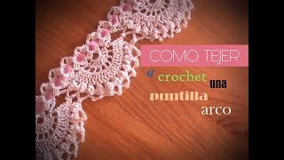 Orilla sencilla crochet