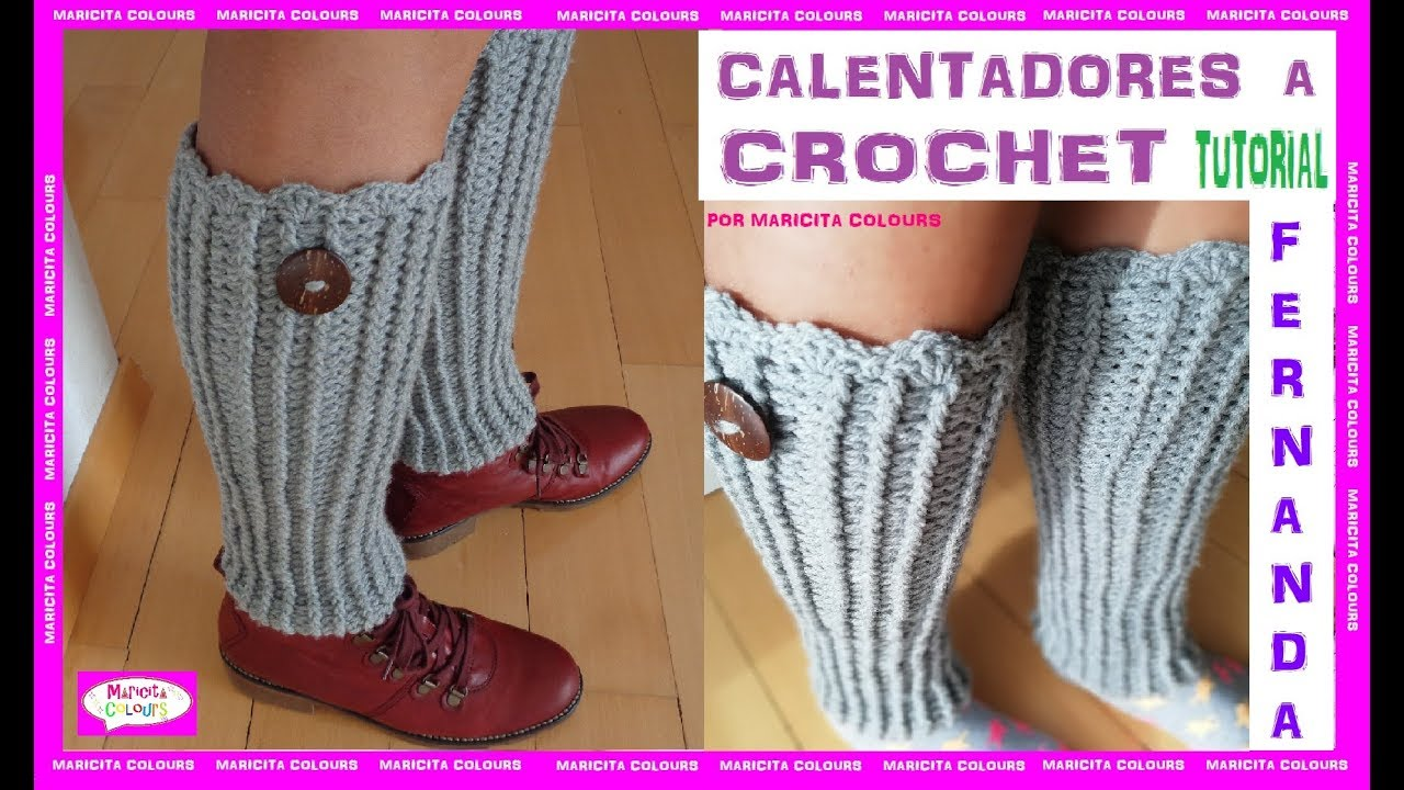 Polainas en crochet