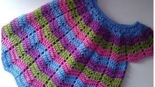 Vestido de bebita a crochet