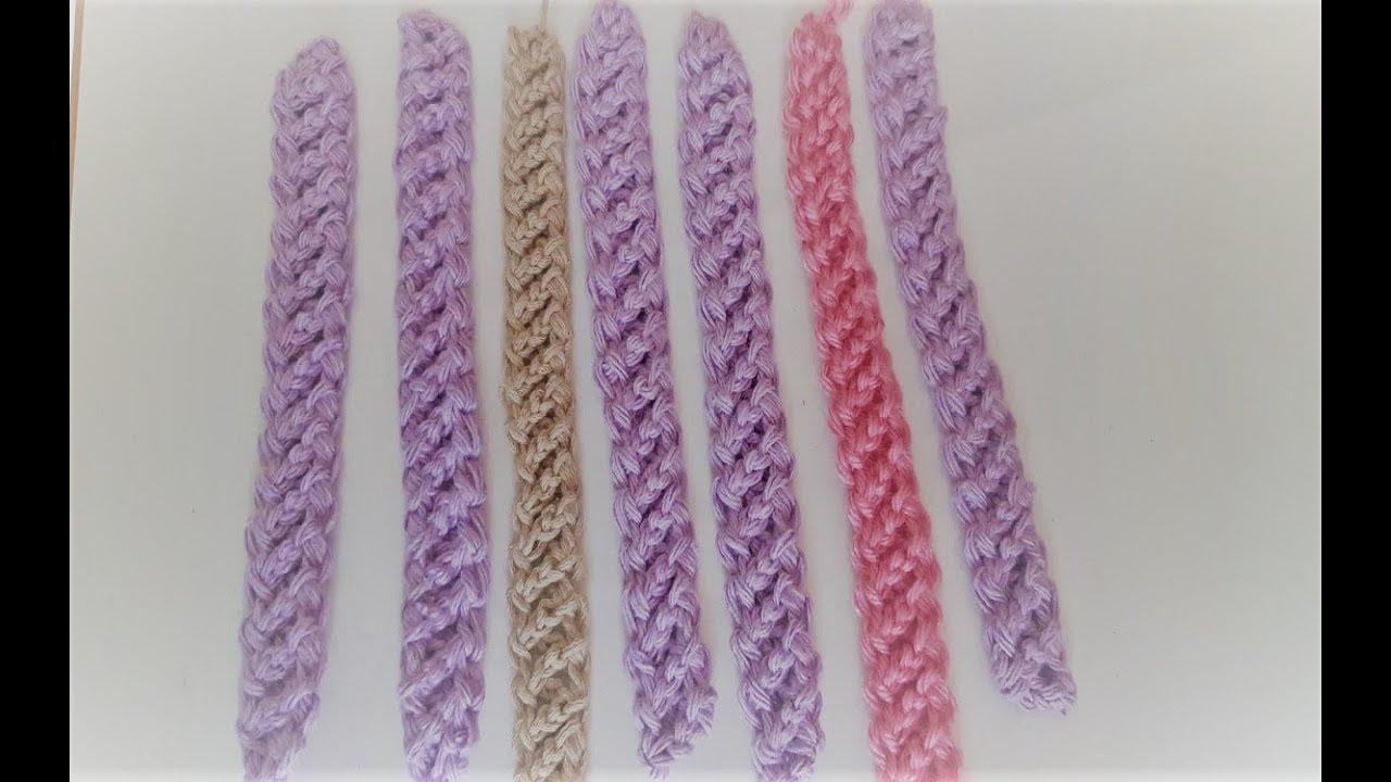 Crochet cordon rumano